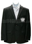 Omega Phi Gamma Blazer Jacket with Crest, Black