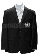 Omega Phi Zeta Blazer Jacket with Crest, Black