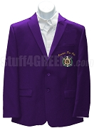 Omega Psi Phi Blazer Jacket with Crest and Organization Name, Purple