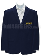 Omega Psi Rho Blazer Jacket with Greek Letters, Navy Blue