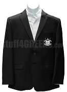 Omega Sigma Tau Blazer Jacket with Crest, Black