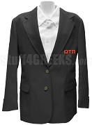 Omega Tau Pi Blazer Jacket with Greek Letters, Black