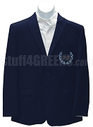 Omicron Delta Kappa Men's Blazer Jacket with Greek Letters, Navy Blue
