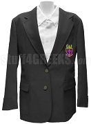 Phi Alpha Delta Ladies Blazer Jacket with Crest, Black