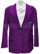 Phi Alpha Omicron Blazer Jacket with Greek Letters, Purple
