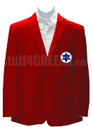 Phi Alpha Theta Men's Blazer Jacket with Greek Letters, Red