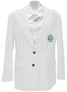 Phi Beta Chi Blazer Jacket with Crest, White