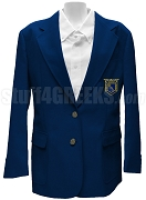 Phi Beta Lambda Ladies Blazer Jacket with Crest, Navy Blue