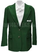 Phi Beta Pi Ladies Blazer Jacket with Greek Letters, Kelly Green