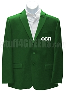 Phi Beta Pi Men's Blazer Jacket with Greek Letters, Kelly Green