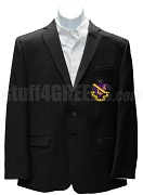 Phi Chi Theta Men's Blazer Jacket with Crest, Black