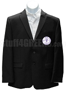 Phi Delta Epsilon Men's Blazer Jacket with Crest, Black