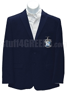 Phi Delta Theta Blazer Jacket with Crest, Navy Blue