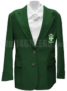 Phi Eta Chi Ladies Blazer Jacket with Crest, Kelly Green