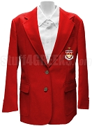Phi Gamma Nu Ladies Blazer Jacket with Crest, Red