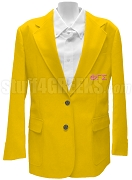 Phi Gamma Sigma Blazer Jacket with Greek Letters, Gold