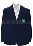 Phi Gamma Sigma Men's Blazer Jacket with Crest, Navy Blue