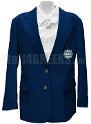 Phi Kappa Phi Ladies Blazer Jacket with Crest, Navy Blue