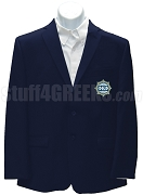 Phi Kappa Phi Men's Blazer Jacket with Crest, Navy Blue