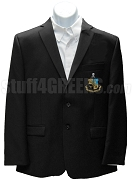Phi Kappa Sigma Blazer Jacket with Crest, Black