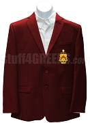 Phi Kappa Tau Blazer Jacket with Crest, Crimson