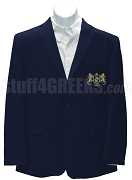 Phi Lambda Chi Blazer Jacket with Crest, Navy Blue