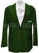Phi Lambda Rho Blazer Jacket with Greek Letters, Forest Green