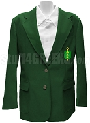 Phi Lambda Sigma Ladies Blazer Jacket with Crest, Green