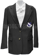 Phi Nu Kappa Blazer Jacket with Crest, Black