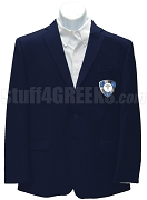 Phi Sigma Gamma Blazer Jacket with Crest, Navy Blue
