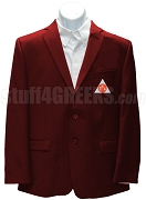 Phi Sigma Kappa Blazer Jacket with Emblem, Crimson