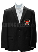 Phi Sigma Phi Blazer Jacket with Crest, Black