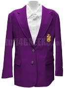 Phi Sigma Pi Blazer Jacket with Crest, Purple