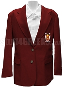 Phi Sigma Rho Blazer Jacket with Crest, Red
