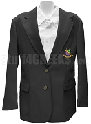Phi Sigma Theta Ladies Blazer Jacket with Crest, Black