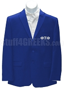 Phi Tau Phi Men's Blazer Jacket with Greek Letters, Royal Blue
