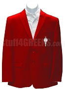 Pi Kappa Delta Men's Blazer Jacket with Crest, Red