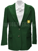Pi Lambda Chi Blazer Jacket with Crest, Forest Green