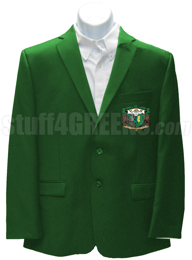 Psi Chi Omega Blazer Jacket with Crest, Forest Green