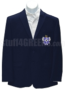 Rho Pi Phi Men's Blazer Jacket with Crest, Navy Blue