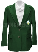 Sigma Alpha Blazer Jacket with Crest, Forest Green