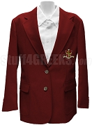 Sigma Alpha Omega Blazer Jacket with Crest, Crimson