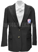 Sigma Beta Xi Blazer Jacket with Crest, Black