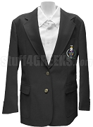 Sigma Delta Lambda Blazer Jacket with Crest, Black