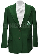 Sigma Gamma Phi Blazer Jacket with Crest, Forest Green
