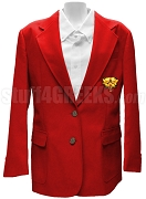 Sigma Iota Sigma Multicultural Sorority Blazer Jacket with Crest, Red