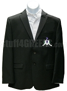 Sigma Kappa Phi Blazer Jacket with Crest, Black