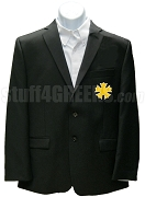 Sigma Nu Blazer Jacket with Crest, Black
