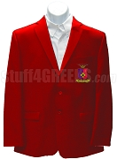 Sigma Phi Epsilon Blazer Jacket with Crest , Red