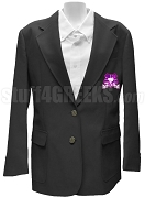 T.R.I. - C. Blazer Jacket with Crest, Black